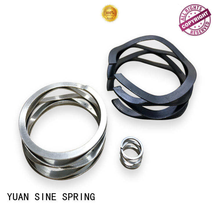 black stainless wave spring disc carbon YUAN SINE SPRING company